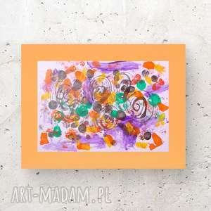 nowoczesna dekoracja, kolorowa abstrakcja, abstrakcja malowana ręcznie