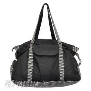 07-0011 czarna torebka sportowa / torba fitness pigeon, duże torebki damskie