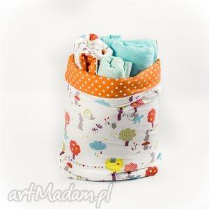 zabawki worek kosz na i inne skarby by looli, kosz, worek, kropki, groszki
