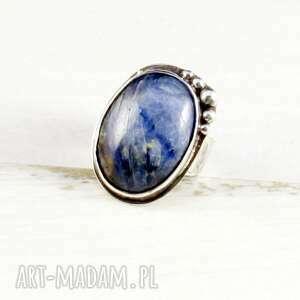 prezent na święta, kyanit i gniewny ocean, srebrny pierścionek, niepowtarzalna