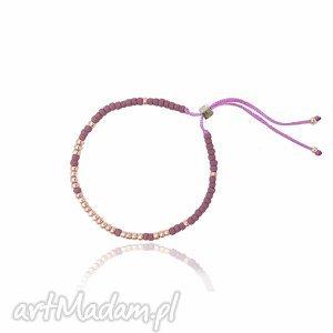 Bransoletka minimal - violet ilovehandmade bransoletka, minimal