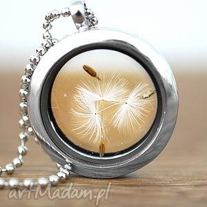 ♥ Dmuchawiec ♥ Naszyjnik - ,medalion,dmuchawiec,ziarna,szkło,spokój,bezpieczeństwo,