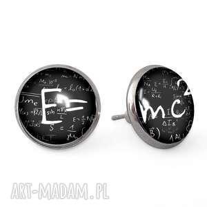 e mc2 - kolczyki sztyfty - mózgowca, wkrętki, einstein, prezent