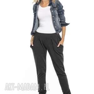 luźne sportowe spodnie z kieszeniami, t256, ciemnoszary, luźne, spodnie, dresowe