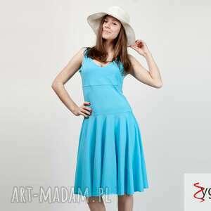 90528fa369 sukienki flared rozkloszowana sukienka bawełniana