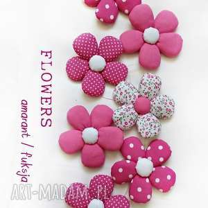 flowers wersja amarant/fuksja - girlanda, flower, kwiat, flowers, amarant