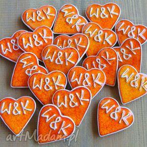 W kolorze pomarańczy ślub pracownia ako podziękowania, prezenty