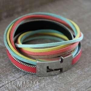 kolorowa podwójna bransoletka, kolorowa, wiosenna, boho, zawijana, bransoleta