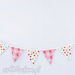 handmade pokoik dziecka girlandka 190cm muchomorki leśna