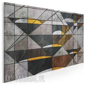 obraz na płótnie - abstrakcja geometria 120x80 cm (16401)