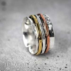 Prezent 925 Srebrny pierścionek MEDYTACJA, medytacja, ezoteryka, srebro, srebrny