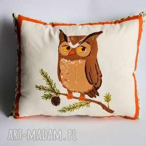 poduszka leśna - sowa - poduszka, sowa, dziecko, sypialnia, las, przyroda