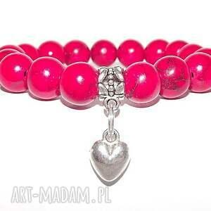 pomysł na prezent Czaki Bransoletki serce w czerwieni, bransoletka, kamienie,