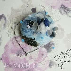 ozdoby do włosów petit toque rose, fascynator, toczek, róże, róża, jedwab