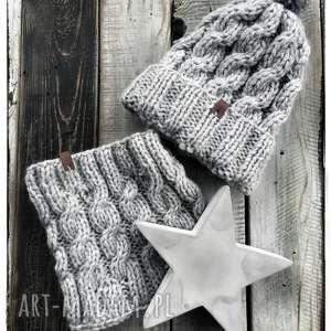 handmade czapki komin i czapka