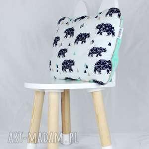 ręcznie zrobione pokoik dziecka płaska poduszka do łóżeczka niedźwiedzie