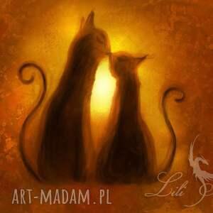 obraz - kotki płótno, obraz, kot, koty, kotki, plótno, prezent