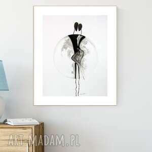 art krystyna siwek grafika 40x50 cm wykonana ręcznie, abstrakcja, styl