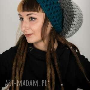 czapki czapka dreadlove triquence 21 - morska, na dready, dredy, dreadloki