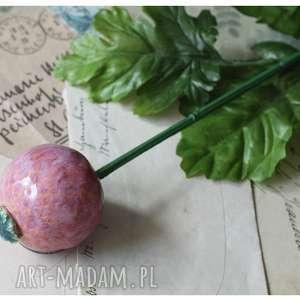 czosneczek różowy, ceramika, kwiat, czosnek