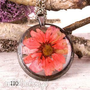 naszyjnik z suszonymi kwiatami tiffany terrarium z110, naszyjnik, suszonekwiaty