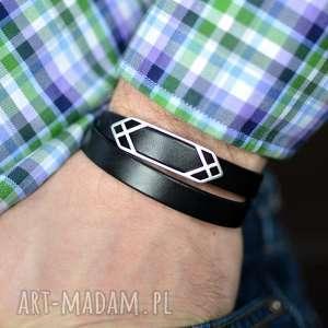 handmade bransoletka męska hombree double arrow black