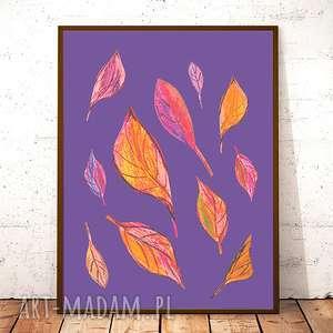 plakaty 21x30 jesienny plakat, liście nowoczesny plakat