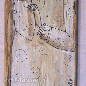 dekoracje deska ręcznie malowana 6, marinaczajkowska, dom, miłość, święta