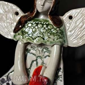 anioł w koronkowej sukience chrzest, prezent dla dziecka, anioł, aniołek
