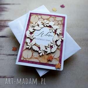 scrapbooking kartki jesień idzie przez park, ślub, urodziny, imieniny, jenień