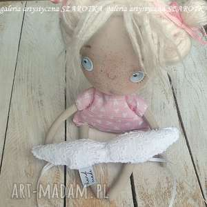 handmade dekoracje aniołek lalka - dekoracja tekstylna, seria ugly angel, ooak