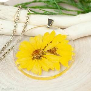 naszyjnik z suszonymi kwiatami w żywicy z255, biżuteria żywicy, wisior