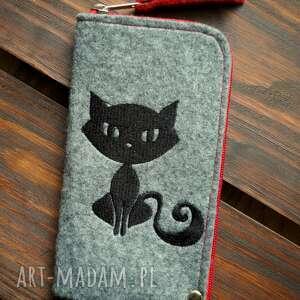filcowe etui na telefon - kotek, smartfon, pokrowiec, futerał, koci motyw