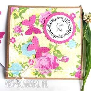 kartka ślubna :: handmade motyle, ślub