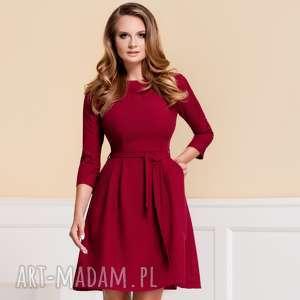 sukienki sukienka monica kolor rubin roz 36 38, bordowa