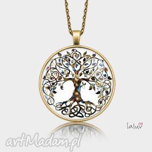 hand-made naszyjniki medalion okrągły drzewo życia