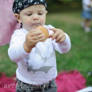 białe body dla dzieci i niemowląt z długim rękawem - nietoperze, body, śpioszki