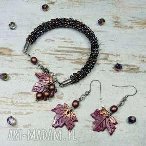 Prezent Komplet biżuterii barwy jesieni , jesień, biżuteria-na-jesień