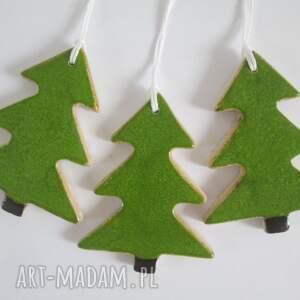 na święta upominki 3 zawieszki choinki, zawieszki-ceramiczne, dekoracje