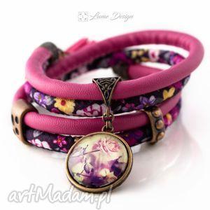 bransoletki bransoletka rzemienna romantic moment, róża, kwiaty