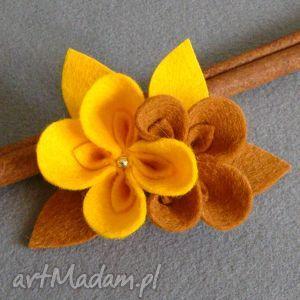 ręczne wykonanie broszki broszka kwiatki
