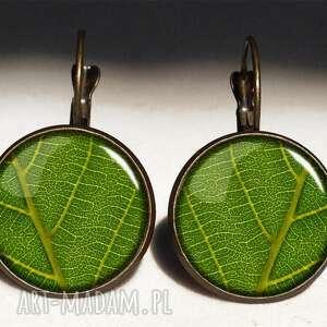 liście - duże kolczyki wiszące - liść