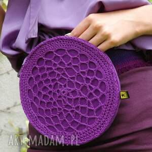 handmade nerki nerka ażurowa fioletowa