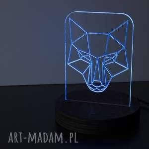 oryginalny prezent, lampy lampka lis rgb, lampka, dla-dzieci, drewniana, led