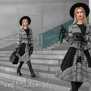 Sukienka star 3 4 midi aztecka czarna sukienki livia clue midi