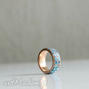 delikatna obrączka zecstali, obrączki, pierścionki, kolorowe, ombre, stal, złoty