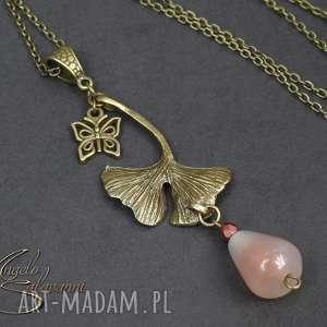 angelo naszyjnik wisiorek agat miłorząb, wisiorek, naszyjnik, kamień, agat, miłorząb