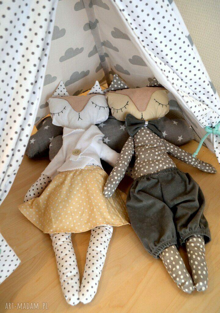 zabawki maskotka mrs and mr lisek - mia&lou