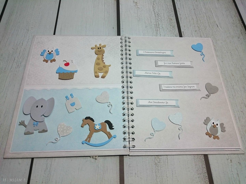 prezent scrapbooking albumy białe zestaw - album w pudełku z kartką