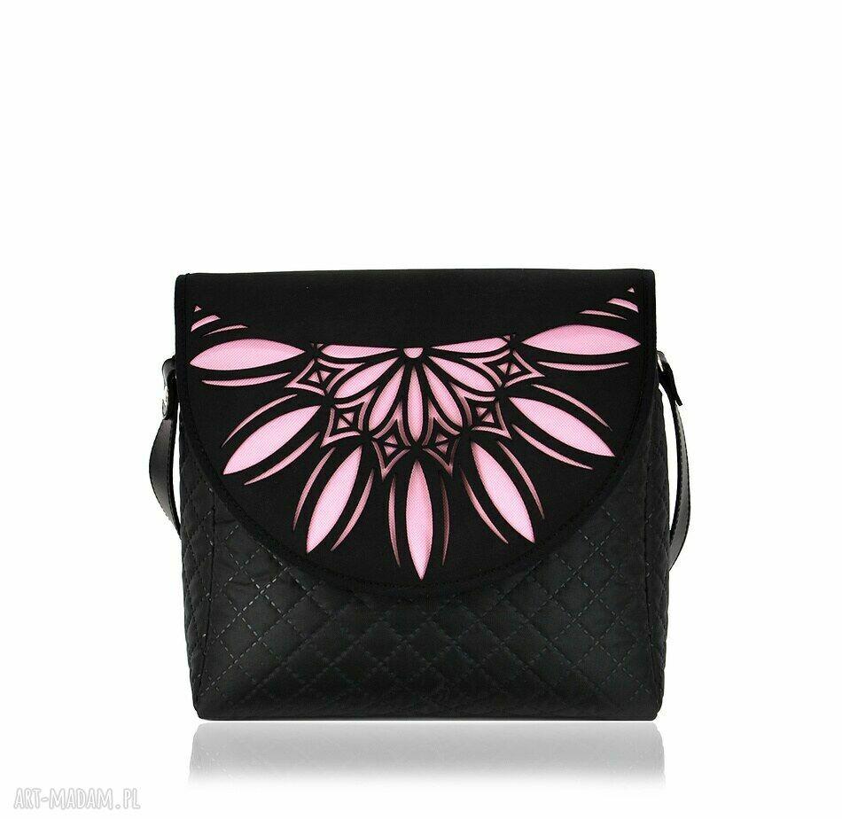 handmade na ramię torebka puro 794 pink cutout